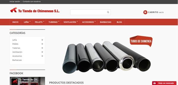 Nueva web www.tiendadechimeneas.com